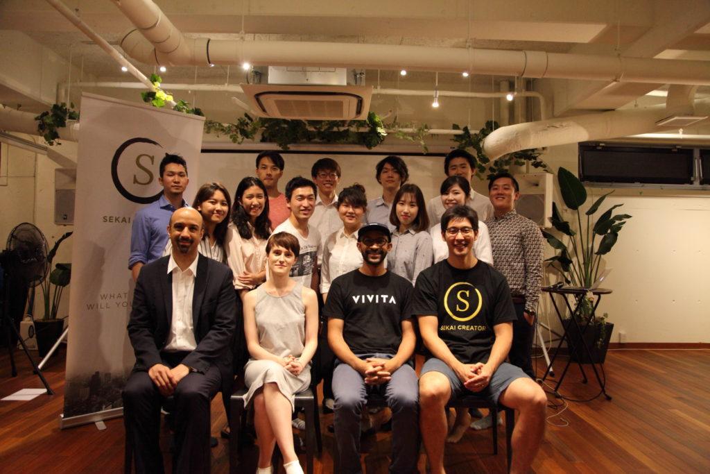 students, judges and sekai creator founder Steve Sakanashi