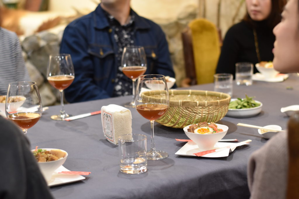 food and beer pairing in ryozan park lounge in sugamo