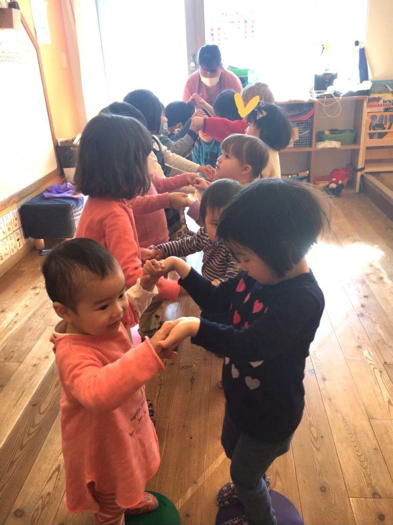 kids playing at ryozan park preschool in tokyo